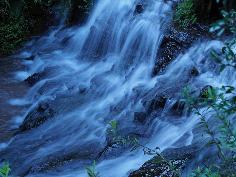 茶屋の裏の滝