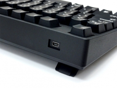左奥に存在するMini USBコネクタ
