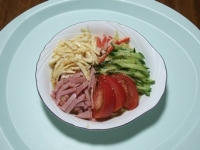 7/8 昼食 こんにゃく麺の冷やし中華