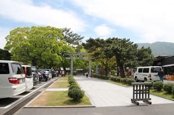 5/2 松陰神社 駐車場より