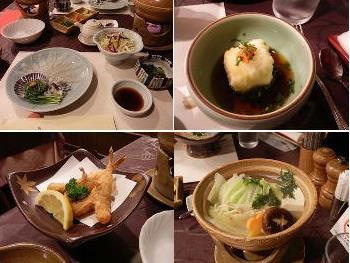 4/30 夕食 ふぐの刺身、唐揚げ、鍋、揚げ白子豆腐  プラザホテル下関
