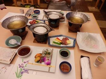 5/1 夕食 和会席  萩本陣