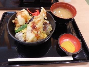 5/2 昼食 フグ天丼 中国自動車道美東SA