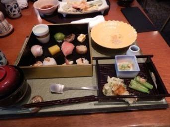 7/23 ランチ 手まり寿司京野菜御膳  青柚子