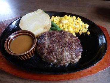 8/17 昼食 米沢牛のハンバーグ  KING'S