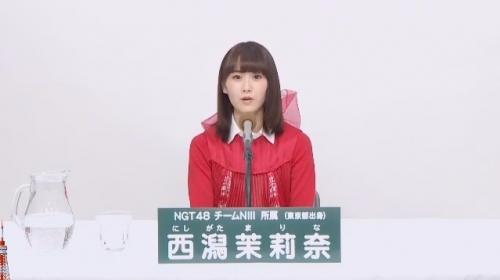 西潟茉莉奈_AKB48 49thシングル選抜総選挙アピールコメント動画_画像 (2999)