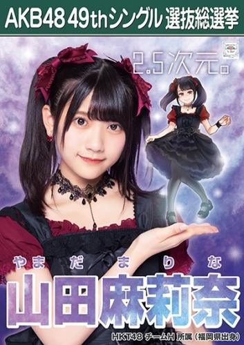 山田麻莉奈_AKB48 49thシングル選抜総選挙ポスター画像
