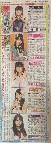 AKB48選抜総選挙 5月22日