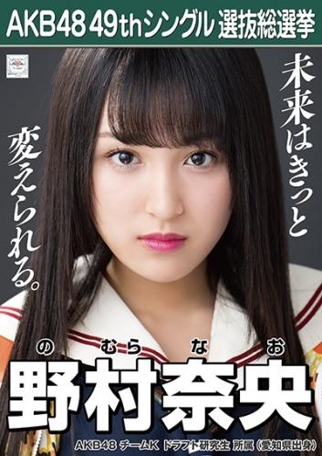 野村奈央_AKB48 49thシングル選抜総選挙ポスター画像
