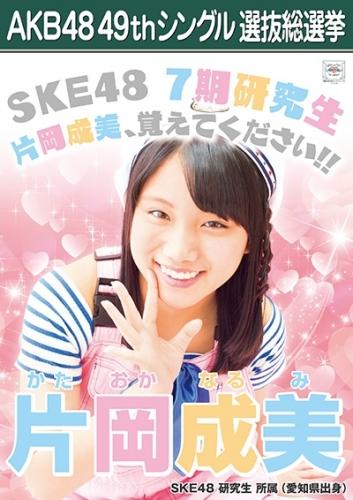 片岡成美_AKB48 49thシングル選抜総選挙ポスター画像