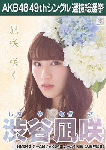 渋谷凪咲_AKB48 49thシングル選抜総選挙ポスター画像