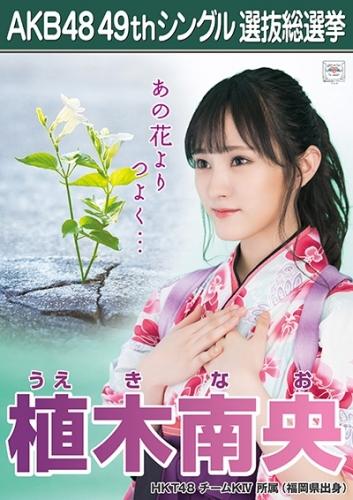 植木南央_AKB48 49thシングル選抜総選挙ポスター画像