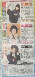 AKB48 49thシングル選抜総選挙 日刊スポーツ連載 2017年5月27日