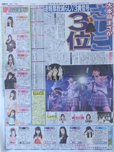 AKB48 49thシングル選抜総選挙 日刊スポーツ連載 2017年6月1日