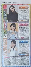 AKB48 49thシングル選抜総選挙 日刊スポーツ連載 2017年6月3日