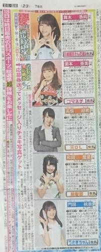 AKB48 49thシングル選抜総選挙 日刊スポーツ連載 2017年6月15日