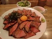 大門 焼肉ここから 浜松町店 ローストビーフ丼(大)(2017/6/6)