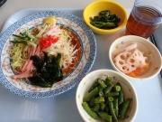 浜松町 社員食堂 冷やし中華+小鉢3つ(2017/7/20)