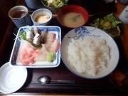 浜松町 割烹 美乃 刺身盛り合わせ(マグロ・いわし・ひらまさ)(2017/5/18)