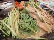 大門 龍紀 棒棒鶏冷し中華+半チャーハン+ザーサイ+杏仁豆腐(2017/6/29)