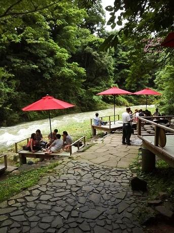 川床カフェ