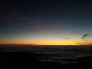 夜明け 蝶ヶ岳