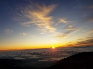 日の入り 蝶ヶ岳