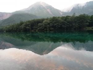 大正池と焼ヶ岳