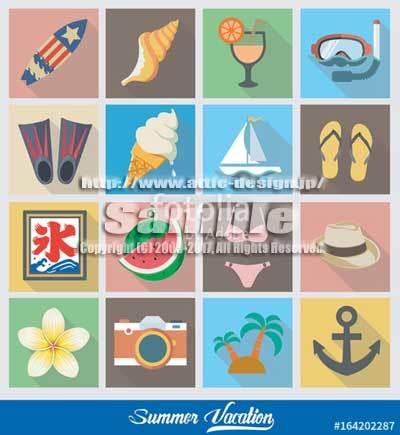 ロゴ アイコン 31夏休み