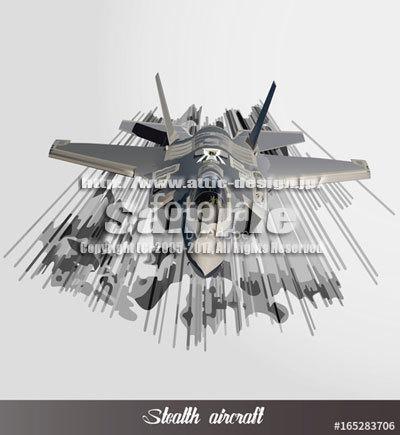 イラスト F-35ステルス戦闘機