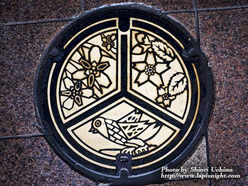 福島県 郡山市 マンホール はなかつみ かっこう やまざくら