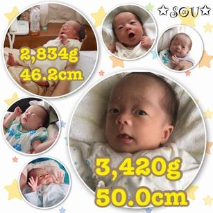 初の外孫1ヶ月目