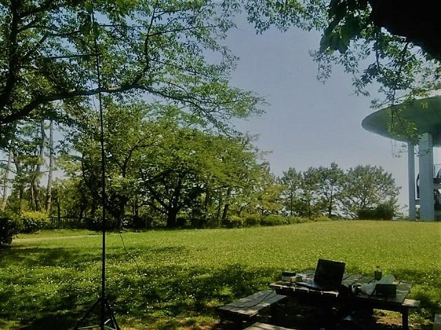 野島公園の展望台広場でVHFDX