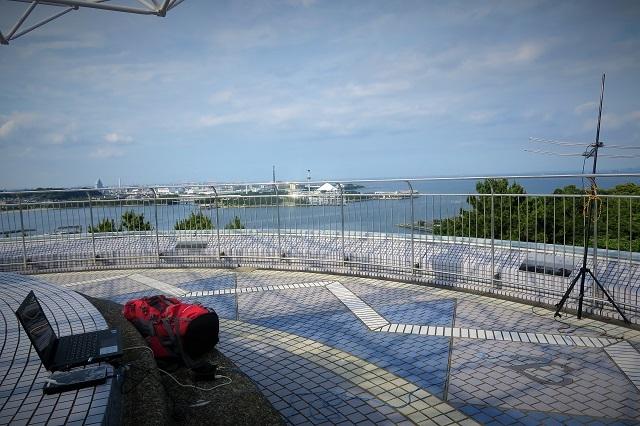 野島公園展望台でDX