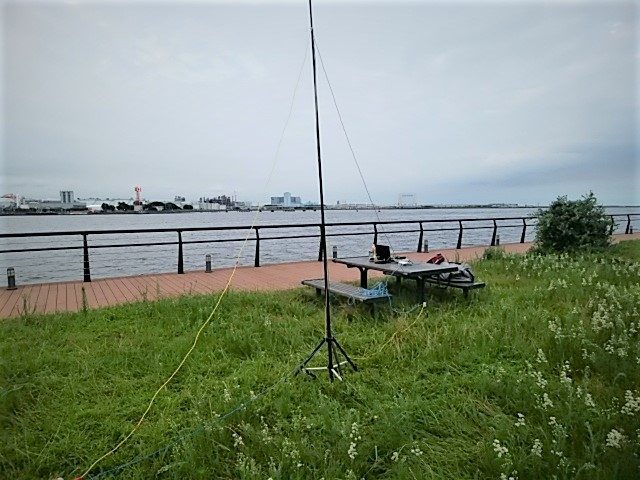 東扇島でTDFアンテナ実験(1)