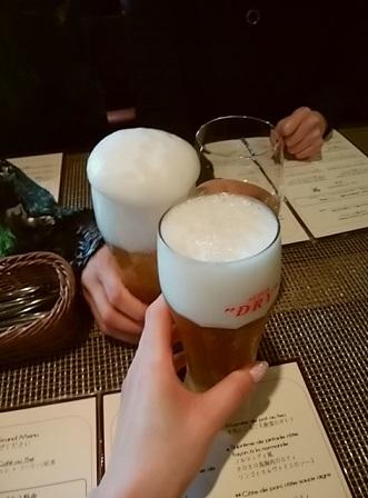 プチパリ 乾杯