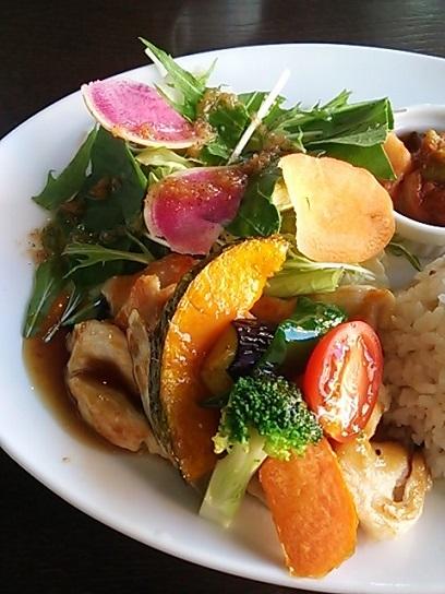 ジャムカフェ 玄米プレート サラダ