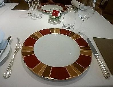 帝国ホテル レセゾン お皿