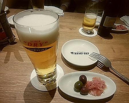 ランプキャップ 16日 ビールとお通し