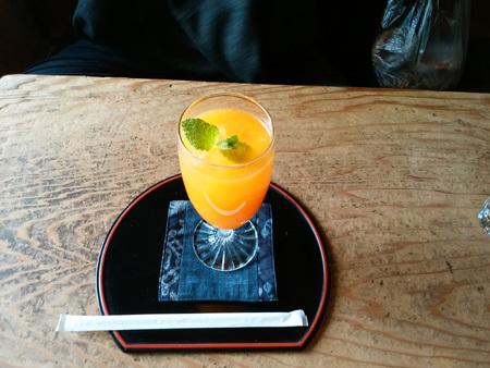 生搾り清見オレンジジュース 尾道 帆雨亭