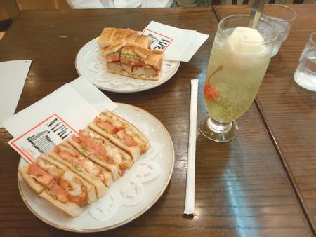 岡山タカシマヤ カフェサンドイッチ