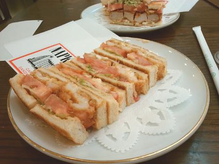 海老フライ野菜サンド CAFEサンドイッチ