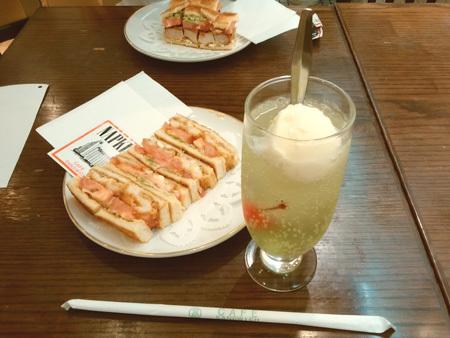 ライムフロート CAFEサンドイッチ