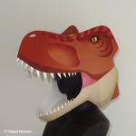 紙製恐竜ティラノサウルスかぶりもの型紙