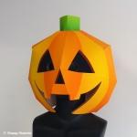 紙製ハロウィンジャックオーランタンかぼちゃかぶりもの型紙