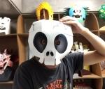 ハロウィン用仮装ガイコツスカルかぶりもの