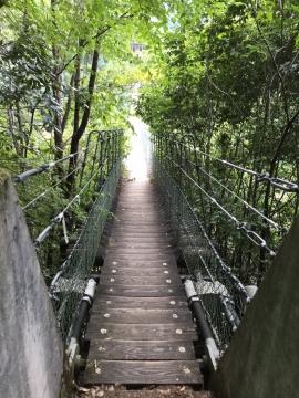 黒滝村のつり橋