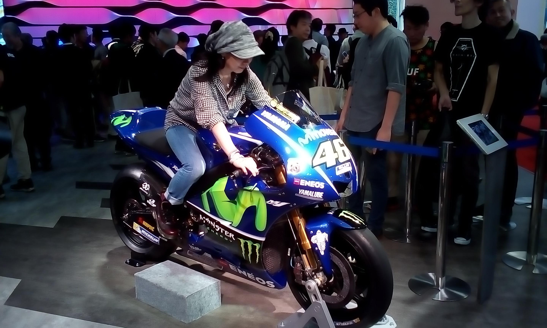 VRロッシの本物バイク