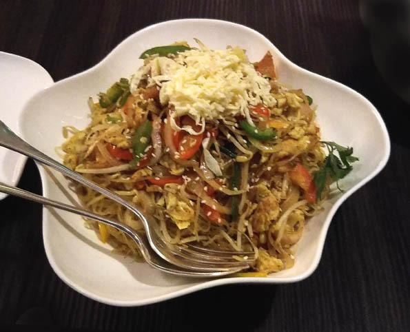 1 20170513 Yauatcha シンガポール風焼きビーフン 21㎝DSC_0334