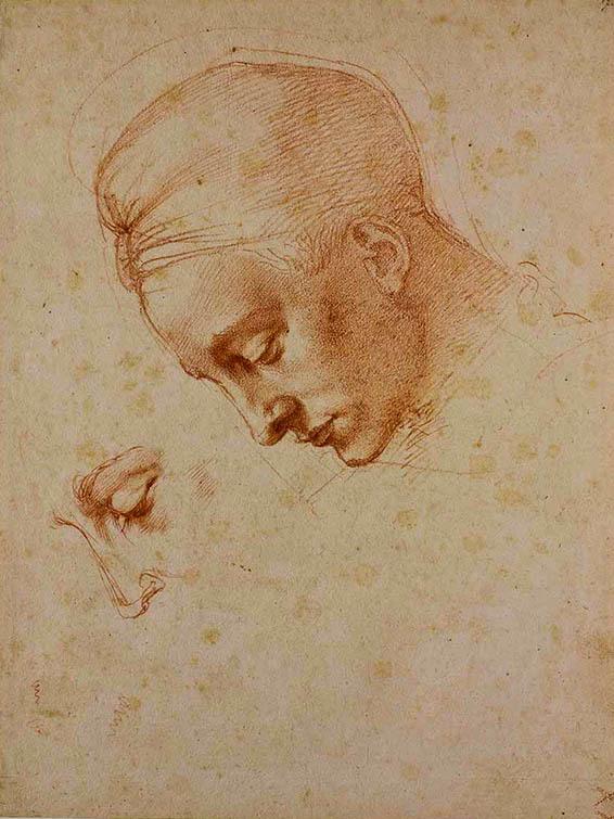 20170707 ミケランジェロ レダと白鳥の頭部のための習作1530年頃 20㎝ 20170331_01